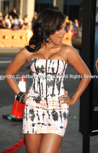 "HOLLYWOOD, CA. - August 12: Teairra Mari arrives at the ""Lottery Ticket"" Los Angeles Premiere at Grauman's.Chinese Theater on August 12, 2010 in Hollywood, California."