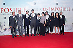 08.10.2012. The film team attends the premiere of Kinepolis Cinema in Madrid of the movie 'The Impossible'. Directed by Juan Antonio Bayona and starring by  Naomi Watts and Tom Holland. In the image The film producter team (Alterphotos/Marta Gonzalez)
