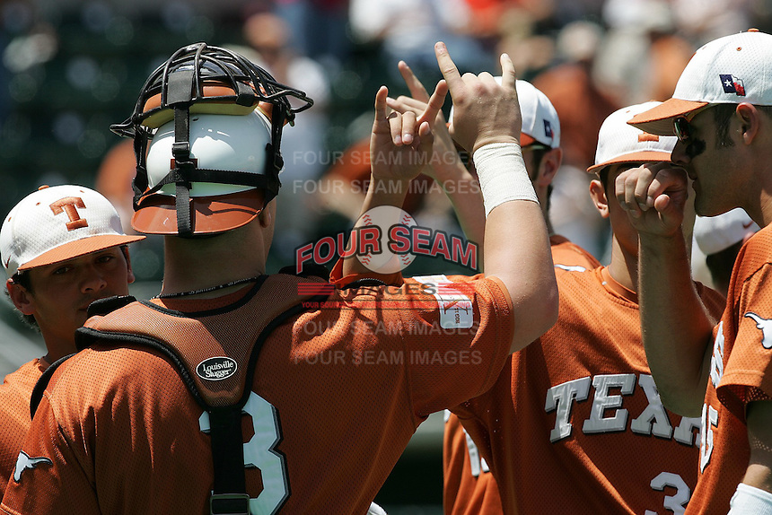 Texas Longhorns during the 2008 season. Photo by Andrew Woolley / Four Seam Images.