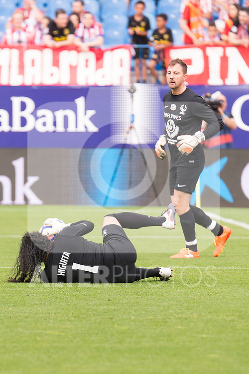 World Legend's and Rene Higuita Jerzy Dudek during friendly match to farewell  to Vicente Calderon Stadium in Madrid, May 28, 2017. Spain.<br /> (ALTERPHOTOS/BorjaB.Hojas)