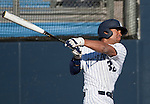 February 24, 2012:   Nevada Wolf Pack batter Jay Anderson hits a 2-run bloop against the Utah Valley Wolverines  during their NCAA baseball game played at Peccole Park on Friday afternoon in Reno, Nevada.