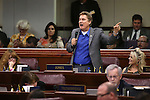 Nevada Assemblyman Brent Jones, R-Las Vegas, speaks during Assembly floor debate at the Legislative Building in Carson City, Nev., on Sunday, May 31, 2015.  <br /> Photo by Cathleen Allison