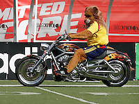 The Real Salt Lake Mascot. The Chicago Fire and Real Salt Lake played to a 1-1 tie during a Major League Soccer match at Rice-Eccles Stadium in Salt Lake City, Utah on March 29, 2008.