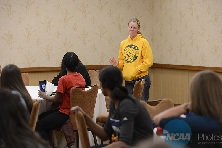 19 OCT 2013: The 2013 Woman of the Year t-shirt exchange held in Indianapolis, IN. Justin Tafoya/NCAA Photos