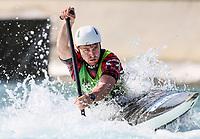 Cameron Smedley (CAN). Oceania Canoe Slalom Championships, Whero Whitewater Park, Auckland, New Zealand, 1st February 2020. Photo: Simon Watts/www.bwmedia.co.nz