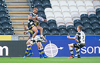 Picture by Allan McKenzie/SWpix.com - 19/04/2018 - Rugby League - Betfred Super League - Hull FC v Leeds Rhinos - KC Stadium, Kingston upon Hull, England - Fetuli Talanoa takes the jump ball.