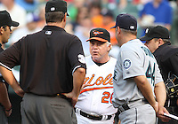 Buck Showalter  manager of the Baltimore Orioles during a MLB game against the Seattle Mariners at Camden Yards, on August 8 2010, in Baltimore, Maryland. Orioles won 5-4 in extra innings.