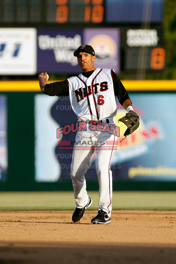 Maikol Gonzalez  -  2009 Modesto Nuts playing against the Visalia Rawhide at John Thurman Field, Modesto, CA - 05/19/2009.Photo by:  Bill Mitchell/Four Seam Images