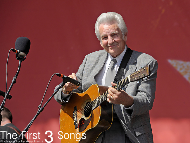 Del McCoury of The Del McCoury Band performs during Day 2 of the Orlando Calling music festival at Citrus Bowl Park in Orlando, Florida on November 13, 2011.