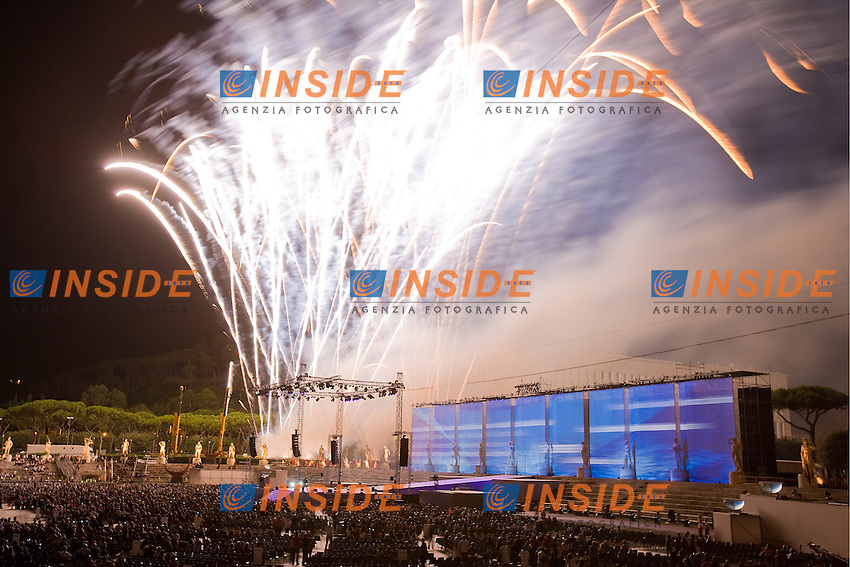 13th Fina World Championships From 17th to 2nd August 2009..18/7/2009..Open Ceremony..Vista Generale..Foto Roma2009.com/InsideFoto/SeaSee