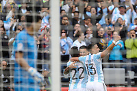 Seattle, WA - Tuesday June 14, 2016: Ezequiel Lavezzi celebrates during a Copa America Centenario Group D match between Argentina (ARG) and Bolivia (BOL) at CenturyLink Field.