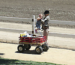 May 26th 2012 ...Gwen Stefani & her family took the kids Zuma & Kingston to the Underwood Family Farm in Moorpark California. The farm is just outside of Los Angeles. After spending a few hours playing with animals & riding trains they went and ate dinner at Wood Ranch restaurant down the street.  Gwen pulled around a red wheelbarrow cart eating popcorn laughing and smiling ...AbilityFilms@yahoo.com.805-427-3519.www.AbilityFilms.com..