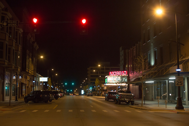 Longtime industrial city Decatur, Ill., had the country&rsquo;s greatest unemployment rate reduction. But people leaving the workforce &ndash; moving away, retiring, no longer looking for jobs -- may be the cause, rather than economic expansion. City officials have banned trucks downtown.<br /> CREDIT: Kristen Schmid for the Wall Street Journal<br /> RUSTBELT