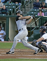 July 24, 2004:  Stephen Smitherman of the Louisville Bats, Triple-A International League affiliate of the Cincinnati Reds, during a game at Frontier Field in Rochester, NY.  Photo by:  Mike Janes/Four Seam Images