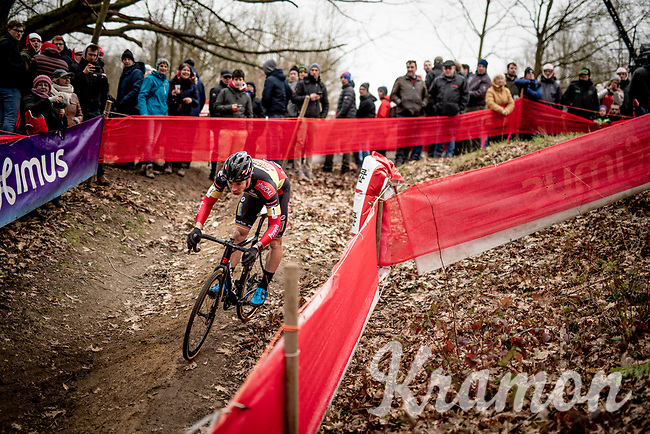 belgian CX champion Laurens Sweeck (BEL/Pauwels Sauzen - Bingoal)<br /> <br /> Elite + U23 Men's Race<br /> CX GP Leuven (BEL) 2020<br />  <br /> ©kramon
