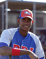 Ronny Carvajal - Dominican Prospect League all-stars 2012 minor league spring training (Bill Mitchell)