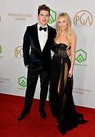 SANTA MONICA, USA. January 18, 2020: Gregg Sulkin & Michelle Randolph at the 2020 Producers Guild Awards at the Hollywood Palladium.<br /> Picture: Paul Smith/Featureflash