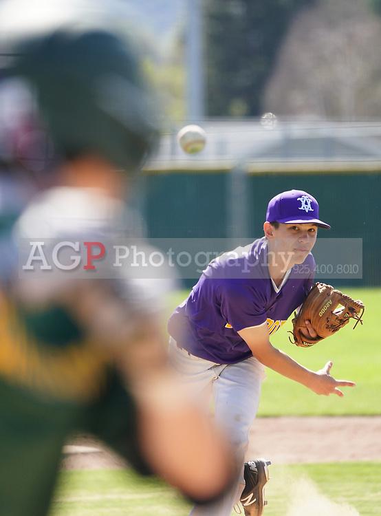 Amador Valley High School vs San Ramon Valley High School freshmen baseball at Amador Valley High School in Pleasanton, CA Saturday March 30. 2019. (Photo by Alan Greth)