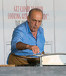 Gennaro Contaldo at the Big Feastival 2017, at  Alex James' farm Kingham Oxfordshire uk