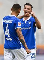 v.l. Torjubel, Goal celebration, celebrate the goal zum 4:0 durch Victor Palsson (SV Darmstadt 98) mit Nicolai Rapp (SV Darmstadt 98)<br /> <br /> - 23.05.2020: Fussball 2. Bundesliga, Saison 19/20, Spieltag 27, SV Darmstadt 98 - FC St. Pauli, emonline, emspor, v.l. <br /> <br /> Foto: Florian Ulrich/Jan Huebner/Pool VIA Marc Schüler/Sportpics.de<br /> Nur für journalistische Zwecke. Only for editorial use. (DFL/DFB REGULATIONS PROHIBIT ANY USE OF PHOTOGRAPHS as IMAGE SEQUENCES and/or QUASI-VIDEO)