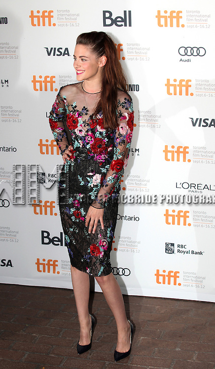 Kristin Stewart attending the The 2012 Toronto International Film Festival Red Carpet Arrivals for 'On The Road' at the Ryerson Theatre in Toronto on 9/6/2012