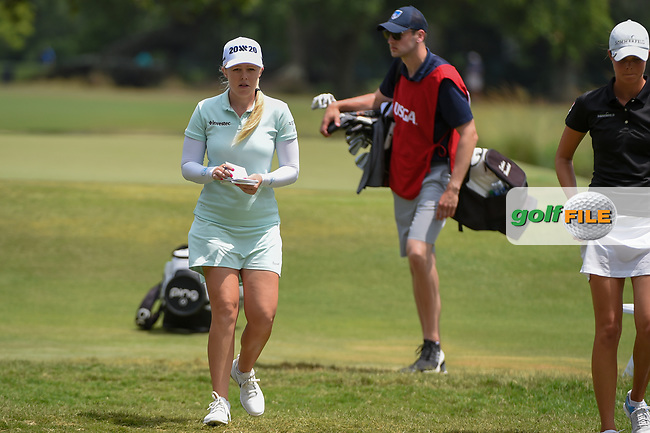 Stephanie Meadow (NIR) heads for the tee on 2 during round 2 of the 2019 US Women's Open, Charleston Country Club, Charleston, South Carolina,  USA. 5/31/2019.<br /> Picture: Golffile | Ken Murray<br /> <br /> All photo usage must carry mandatory copyright credit (© Golffile | Ken Murray)