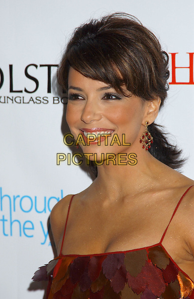 EVA LONGORIA.Movieline's Hollywood Life Honors 2004 Breakthrough Awards held at the Henry Fonda Music Box Theatre. .December 12th, 2004.headshot, portrait, dangling earrings.www.capitalpictures.com.sales@capitalpictures.com.© Capital Pictures.