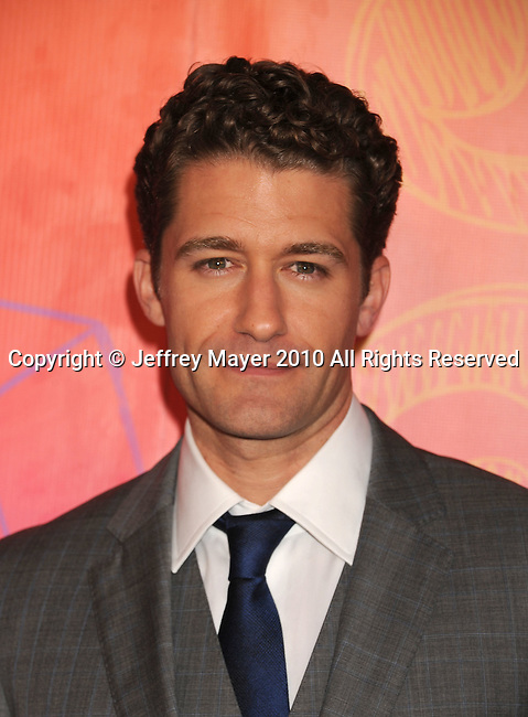 SANTA MONICA, CA. - August 02: Matthew Morrison arrives at the FOX 2010 Summer TCA All-Star Party at Pacific Park - Santa Monica Pier on August 2, 2010 in Santa Monica, California.