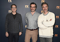 PASADENA, CA - FEBRUARY 4:  Executive Producers Paul Simms, Jemaine Clement and Taika Waititi at the 2019 FX Networks Winter TCA Star Walk at The Langham Huntington Hotel and Spa on February 4, 2019 in Pasadena, California. (Photo by Scott Kirkland/FX/PictureGroup)