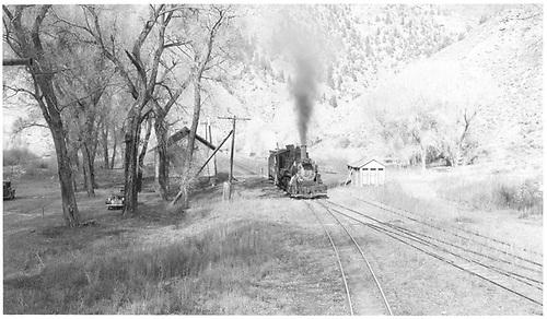 #456 at depot.<br /> D&amp;RGW  Cimarron, CO  Taken by Richardson, Robert W. - 10/14/1945