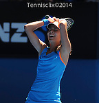 Ana Ivanovic (SRB) defeats Serena Williams (USA) 4-6, 6-3, 6-3  at the Australian Open in Melbourne, Australia on January 19 2014