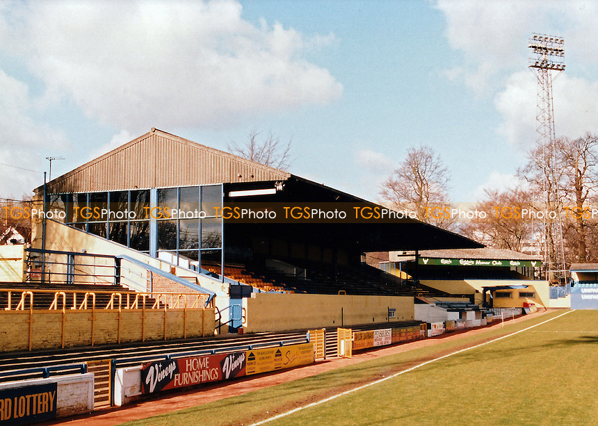 General view of the Manor Ground, Oxford United Football Club on 26th March 1995