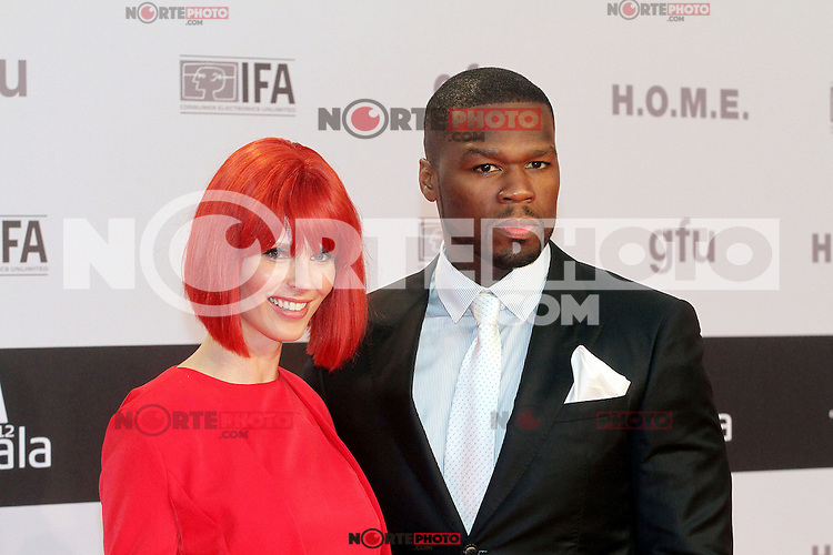 """August 30, 2012: 50 Cent aka Curtis James Jackson and Miss IFA attend the """"IFA Opening Gala"""" at the Palais am Funkturm. in Berlin, Germany. ..Credit: © AFG / MediaPunch Inc."""
