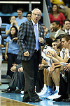 21 December 2013: UNC head coach Roy Williams. The University of North Carolina Tar Heels played the Davidson College Wildcats at the Dean E. Smith Center in Chapel Hill, North Carolina in a 2013-14 NCAA Division I Men's Basketball game. UNC won the game 97-85 in overtime.