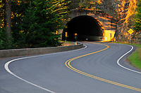 First Tunnel on Hurricane Ridge Road Olympic National Park