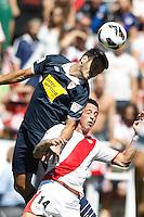 02.09.2012 SPAIN -  La Liga 12/13 Matchday 3rd  match played between Rayo Valelcano vs Sevilla Futbol Club (0-0) at Campo de Vallecas stadium. The picture show Nicki Bille (Danes player of Rayo Vallecano)