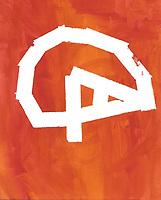 """Coronavirus"" Painting by Graeme Schaefer, Grade 2, Yarmouth, ME, USA"
