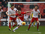 Joe Cole of Coventry City tussles with Dean Hammond of Sheffield Utd - English League One - Sheffield Utd vs Coventry City - Bramall Lane Stadium - Sheffield - England - 13th December 2015 - Pic Simon Bellis/Sportimage-