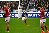 February 1st 2019, St Denis, Paris, France: 6 Nations rugby tournament, France versus Wales;  Morgan Parra (fr)with a penalty conversion