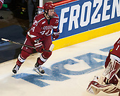 Michael Floodstrand (Harvard - 44) - The University of Minnesota Duluth Bulldogs defeated the Harvard University Crimson 2-1 in their Frozen Four semi-final on April 6, 2017, at the United Center in Chicago, Illinois.