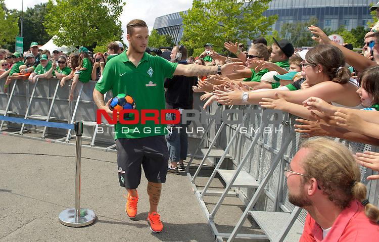 28.07.2013, Weserstadion, Bremen, GER, 1.FBL, Werder Bremen Tag der Fans 2013, im Bild Marko Arnautovic (Bremen #7)<br /> <br /> Foto &copy; nph / Frisch