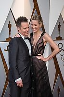 Oscar&reg; nominee Sam Rockwell and Leslie Bibb arrive on the red carpet of The 90th Oscars&reg; at the Dolby&reg; Theatre in Hollywood, CA on Sunday, March 4, 2018.<br /> *Editorial Use Only*<br /> CAP/PLF/AMPAS<br /> Supplied by Capital Pictures