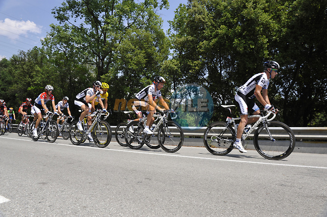 The breakaway group during Stage 2 of the Tour de France 2009 running 187km from Monaco to Brignoles, France. 5th July 2009 (Photo by Eoin Clarke/NEWSFILE)