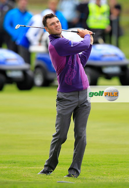 Martin Kaymer (EUR)  during Practice on Wednesday at the 40th Ryder Cup, The Gleneagles Hotel, Perthshire from 26th to 28th September 2014<br /> Picture Eoin Clarke, www.golffile.ie