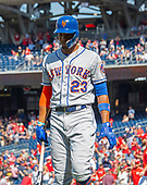 New York Mets center fielder Keon Broxton (23) walks off the field after striking out swinging to end the game in the ninth inning against the Washington Nationals at Nationals Park in Washington, D.C. on Thursday, May 16, 2019.  The Nationals won the game 7 - 6.  <br /> Credit: Ron Sachs / CNP<br /> (RESTRICTION: NO New York or New Jersey Newspapers or newspapers within a 75 mile radius of New York City)