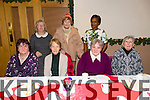 Eileen Hanafin, Eileen O'Grady, Maureen O'Leary, Eileen O'Sullivan, Back L to R Miriam Karanja, Rita O'Regan, Bernadette Daly  at the Dominican Church Christmas Mass and Party at Kerins O'Rahilly's Clubhouse on Sunday