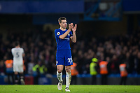 Chelsea's Cesar Azpilicueta applauds the fans at the final whistle <br /> <br /> Photographer Craig Mercer/CameraSport<br /> <br /> The Premier League - Chelsea v Crystal Palace - Saturday 10th March 2018 - Stamford Bridge - London<br /> <br /> World Copyright &copy; 2018 CameraSport. All rights reserved. 43 Linden Ave. Countesthorpe. Leicester. England. LE8 5PG - Tel: +44 (0) 116 277 4147 - admin@camerasport.com - www.camerasport.com