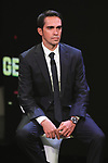Recently retired Alberto Contador (ESP) on stage at the Giro d'Italia 2018 Route Presentation held in the RAI TV Studios, Milan, Italy. 29th November 2017.<br /> Picture: LaPresse/Fabio Ferrari | Cyclefile<br /> <br /> <br /> All photos usage must carry mandatory copyright credit (&copy; Cyclefile | LaPresse/Fabio Ferrari)