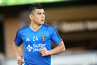 San Jose, CA - Saturday April 08, 2017: Nick Lima  prior to a Major League Soccer (MLS) match between the San Jose Earthquakes and the Seattle Sounders FC at Avaya Stadium.