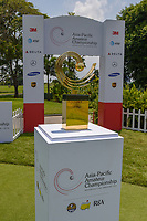 A shot of the trophy going to the winner of the Asia-Pacific Amateur Championship, Sentosa Golf Club, Singapore. 10/4/2018.<br /> Picture: Golffile | Ken Murray<br /> <br /> <br /> All photo usage must carry mandatory copyright credit (&copy; Golffile | Ken Murray)